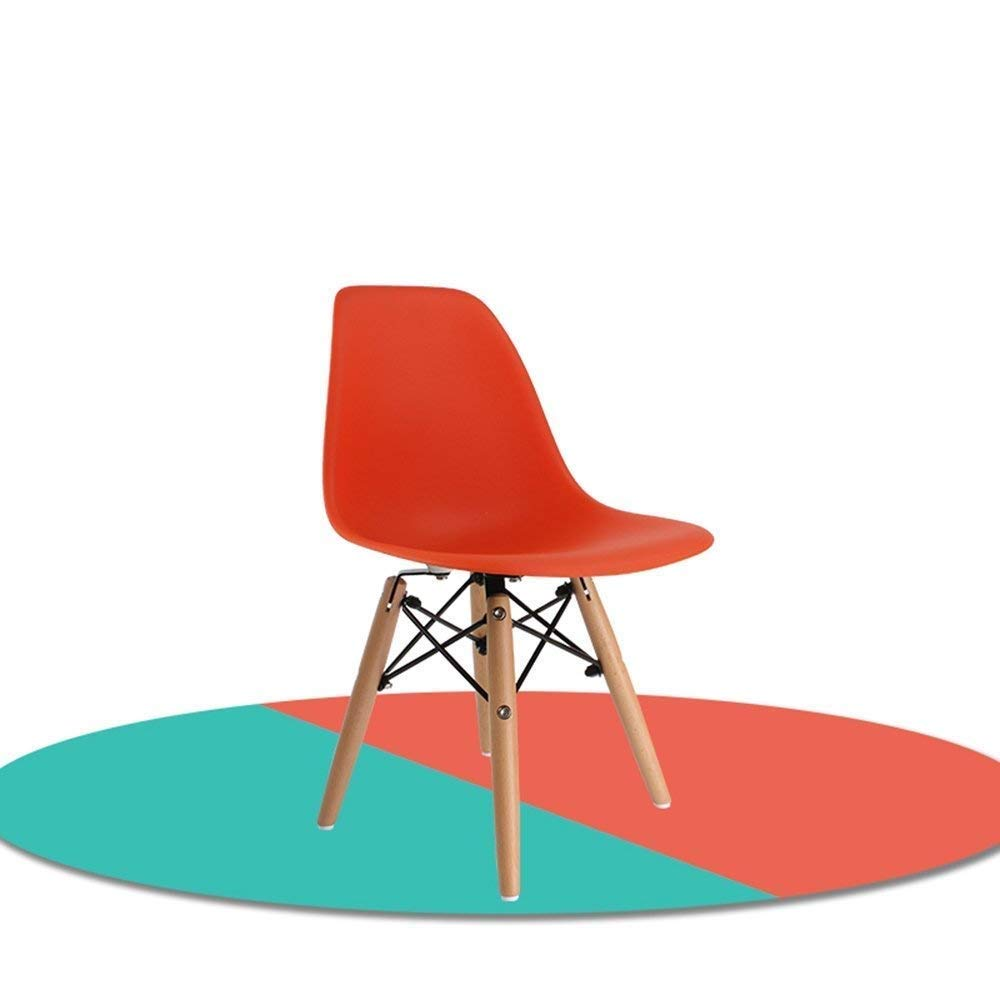 orange BRNEBN Chair-color Plastic Backrest Chair Study Chair Student Training Chair Stool Home Convenient (color   Green)