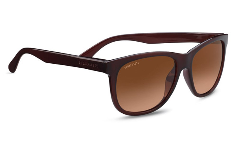 Serengeti Ostuni Sunglasses, Shiny Burgundy