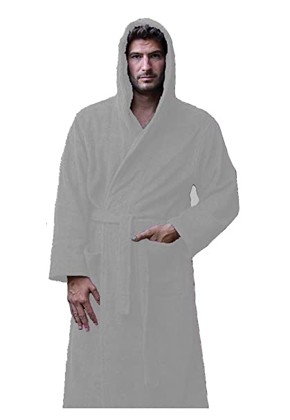 Terry Cotton Hooded Robes for Men and Women 9f5555ffe