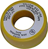 gas line sealant - LASCO 11-1029 PTFE Extra Heavy Gas Line Pipe Sealant Tape, 1/2-Inch x 260-Inch, Yellow