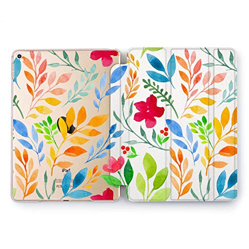 Wonder Wild Watercolor Branch iPad Case 9.7 Pro inch Mini 1 2 3 4 Air 2 10.5 12.9 2018 2017 Design 5th 6th Gen Clear Print Smart Hard Cover Natural Colorful Leaves Plants Aquarelle Ornament Bushes