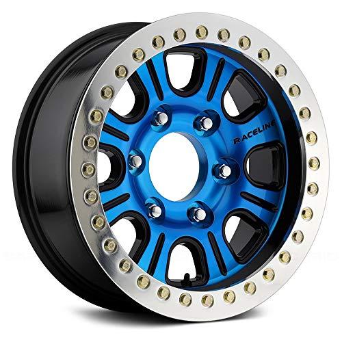 Raceline RT232 AL Сustom Wheel - Monster Black with Machined Face and Machined Cast Beadlocks 17