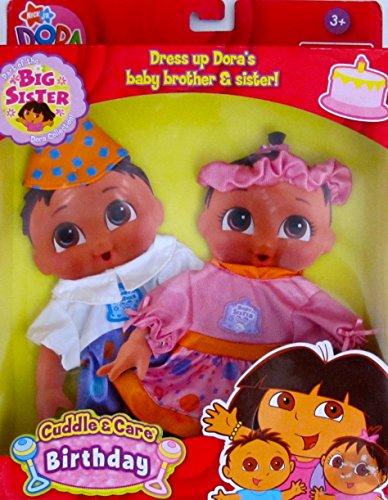 DORA the Explorer BIG SISTER Dora TWINS Cuddle & Care