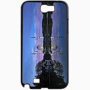Unique Design Fashion Protective Back Cover For Samsung Galaxy Note 2 Case Mosque Shah Alam Water Reflection Selangor Black