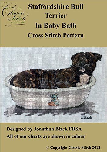 Staffordshire Bull Terrier In Baby Bath for sale  Delivered anywhere in Canada