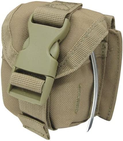 Single Frag Grenade Molle Ready Tactical Pouch - Coyote Tan