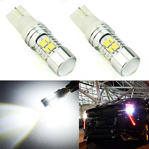 JDM ASTAR Super Bright 30-EX Chips 921 912 LED Bulbs with Projector For Backup Reverse Lights, Xenon White -
