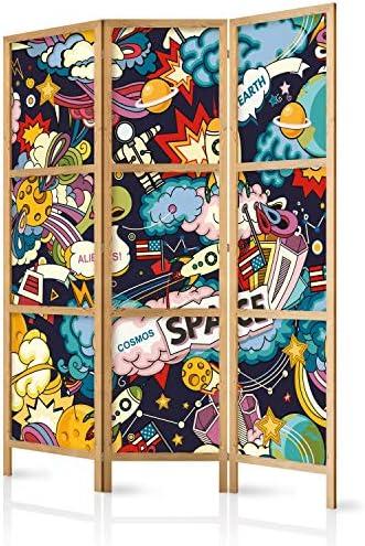 murando - Biombo Graffiti Street Art 135x171 cm 3 Paneles Lienzo de Tejido no Tejido Tela sintética Separador Madera Design de Moda Hecho a Mano Deco Home Office Japón e-B-0039-z-b: Amazon.es: Hogar