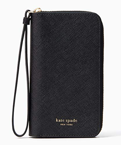 (Kate Spade New York Cameron Zip Leather Wristlet for iPhone Xs & iPhone X, Black)