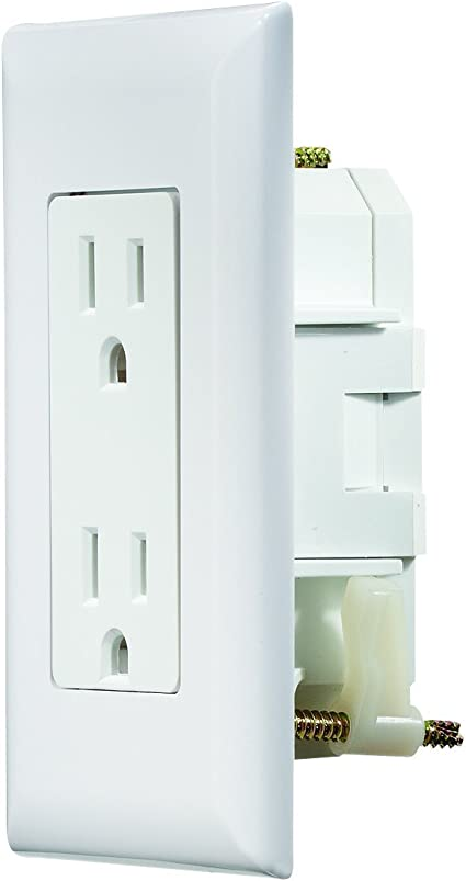 Rv Electrical Outlet >> Rv Designer S811 Self Contained Dual Outlet With Cover Plate White Ac Electrical