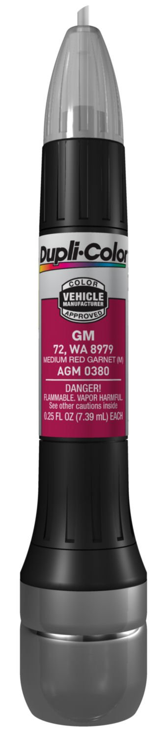 Dupli-Color (AGM0380-12PK) Metallic Medium Red Garnet General Motors Exact-Match Scratch Fix All-in-1 Touch-Up Paint - 0.5 oz., (Pack of 12)