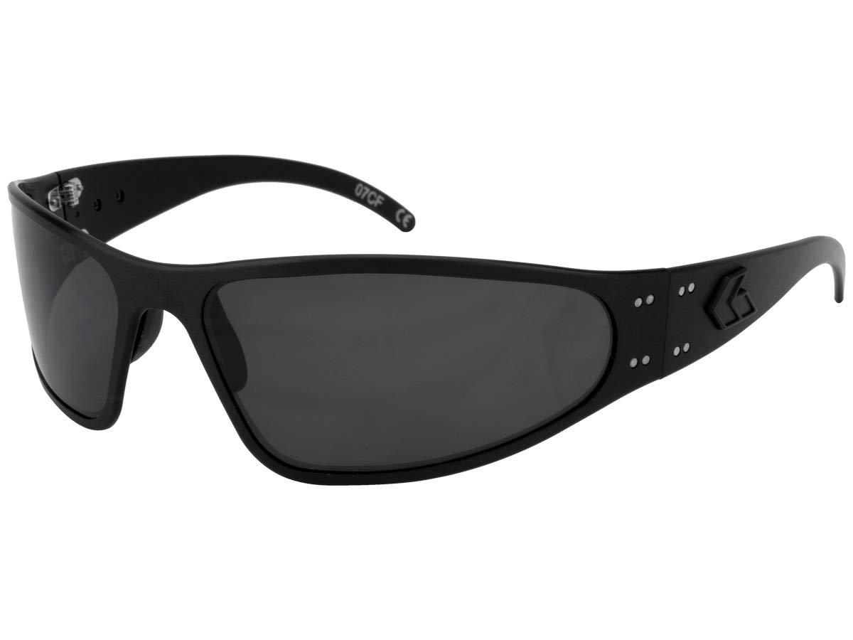 Gatorz Eyewear, Wraptor Model, Aluminum Frame Sunglasses - Blackout Tactical Style/Smoked Lens by Gatorz