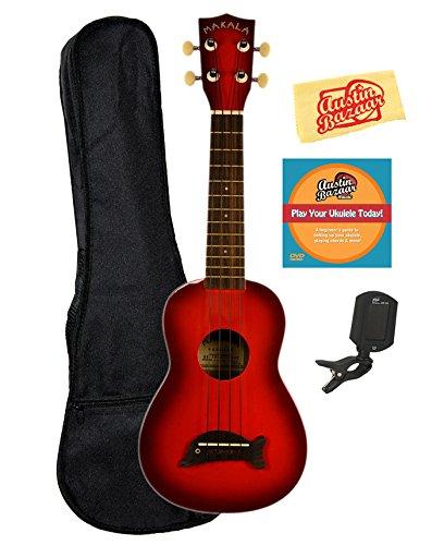 kala-mk-sd-rdburst-makala-dolphin-soprano-ukulele-bundle-with-gig-bag-austin-bazaar-instructional-dv