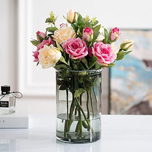 JUSTYOU Sala de estar flores artificiales flores artificiales falsas ...