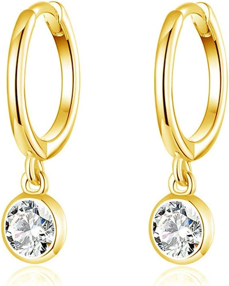 Small Gold Hoops Art Deco Earrings Gold Huggie Earrings Small Gold Earrings Huggie Cz Earrings Celestial Earrings CZ Hoop Earrings