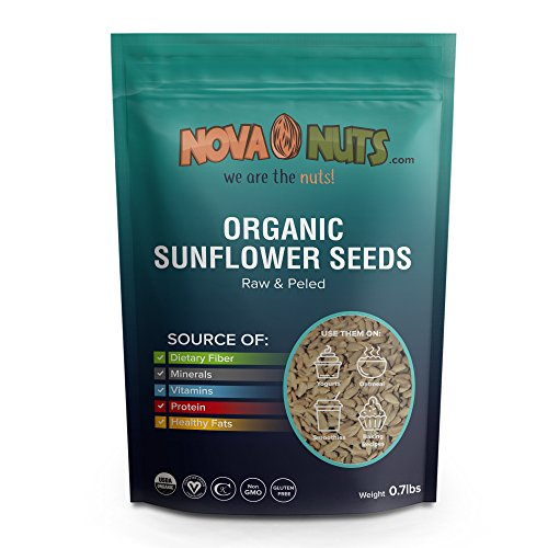 Organic Sunflower Seeds By Nova Nuts - Natural Vitamins & Minerals from Raw Whole Foods (0.7 pounds) ()