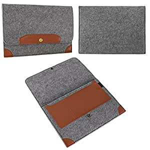 eFabrik–Funda universal para portátil 13,3pulgadas Protección Funda Sleeve Cover Laptop funda Soft accesorios Fieltro Gris