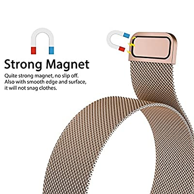 Wearlizer Milanese Loop Replacement Metal band - Fitness Wristband for Fitbit Charge 2