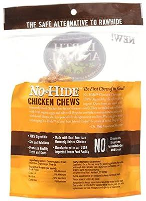 Earth Animal No-Hide Chicken Chew, 4 Inch - 10 Total(5 Packs with 2 per pack) by Earth Animal No-Hide Chk Chw 4 Inches - 10 Total(5 Packs with 2 per pack)