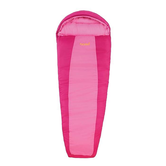 Eureka! Lady Bug 30 Degree Childrens Mummy Sleeping Bag; Comfortable, Lightweight Three-Season, Thermally Efficient Bag for Kids Camping – Pink – Children's