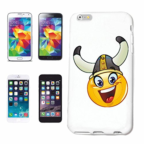 "cas de téléphone iPhone 6S ""FUNNY SMILEY AS VIKINGS ""sourire EMOTICON APP sa SMILEYS SMILIES ANDROID IPHONE EMOTICONS IOS"" Hard Case Cover Téléphone Covers Smart Cover pour Apple iPhone en blanc"