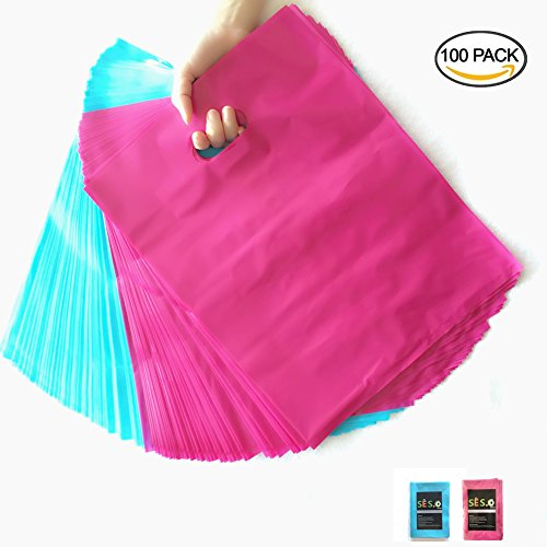 sesco-hot-pink-and-teal-blue-plastic-merchandise-bags-shopping-bagsretail-bags-for-packing-clothing-