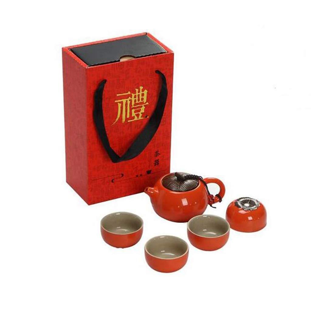 旅行お茶セット、手作りのポータブルカンフーセラミック中国のティーポット、セットを送信するにはセットを購入 B07NY6GNRH