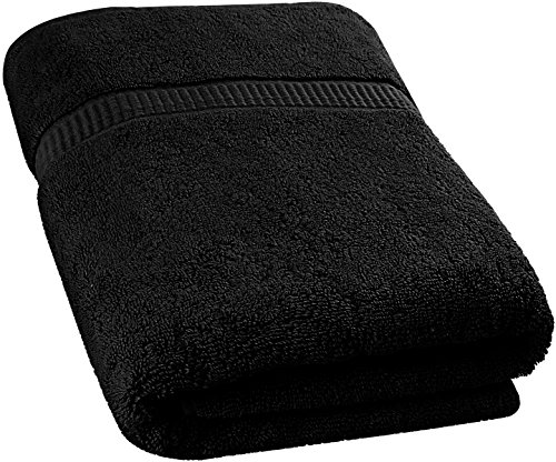 Utopia Towels Soft Cotton Machine Washable Extra Large (35-Inch-by-70-Inch) Bath Towel, Black