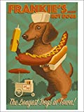 Dachshund - Retro Hotdog Ad (9x12 Collectible Art Print, Wall Decor Travel Poster)