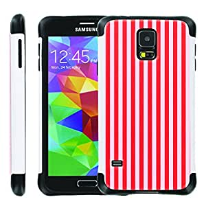 [ManiaGear] SLIM Rugged Hybrid Image Protector Cover (Red Candy) for Samsung Galaxy S5