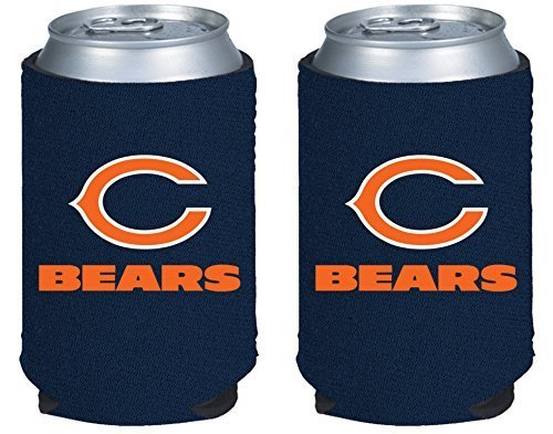 NFL Football 2014 Team Color Logo Can Kaddy Holder Cooler 2-Pack (Chicago Bears) - Logo Cooler