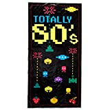 Beistle 57089 1-Pack 80's Door Cover, 30-Inch by 5-Feet