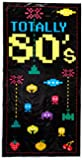 Totally 80's Door Cover Party Accessory (1 count) (1/Pkg)