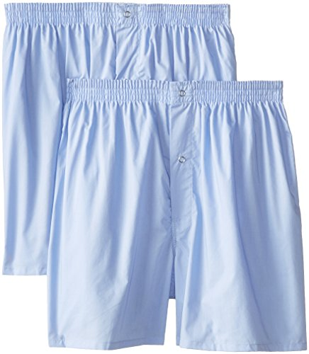 Munsingwear Men's 2-Pack Gripper Woven Boxer, Light Blue, Small