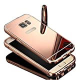 S7 Case, Galaxy S7 Case, TabPow [Electroplating Series] Luxury Slim Hard Back Case Cover Bumper [Mirror Case] For Samsung Galaxy S7, Rose Gold
