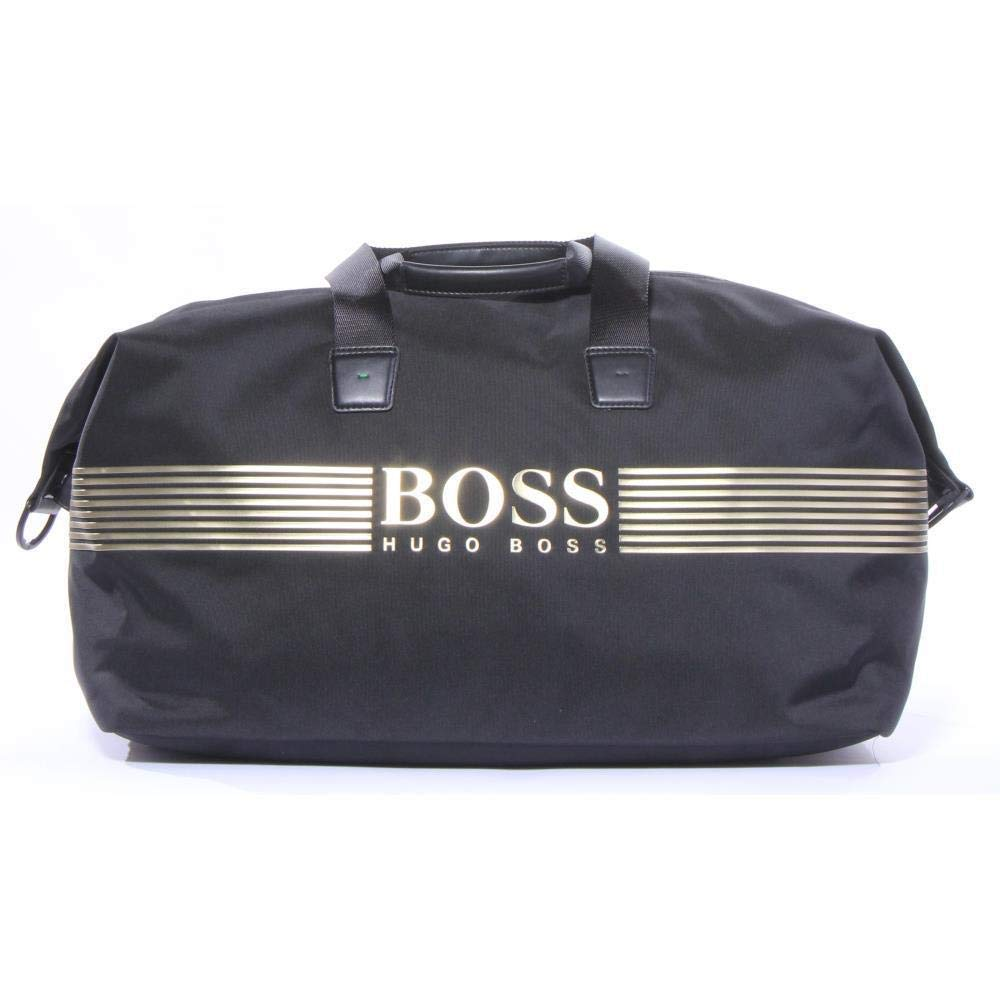 Hugo Boss ACCESSORY メンズ B079DCYBWK Pixel Nylon Weekender Black/Gold One Size