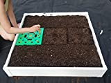 Handy bed 3 x 3 Square Foot Design, Stack-able, White, Vinyl, Raised Garden Bed