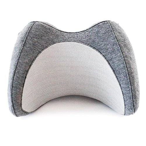 Vestia-Ergonomic-Travel-Pillow-Portable-Small-Neck-Cushion-for-Airplane-Car-Train-Bus-More-Supportive-Memory-Foam-with-Cooling-Ventilation-Unisex-Gray-by