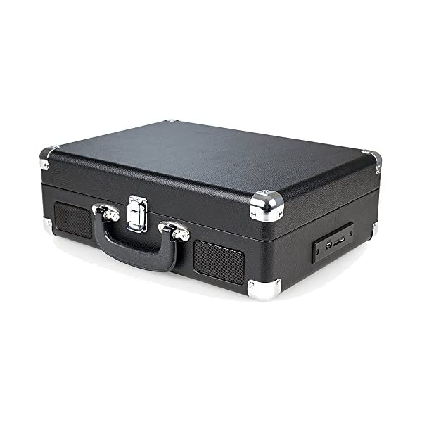 Lauson CL503 Vintage 3-Speed Suitcase Turntable for Vinyl Records with Speakers, Record Player USB (Black) 5