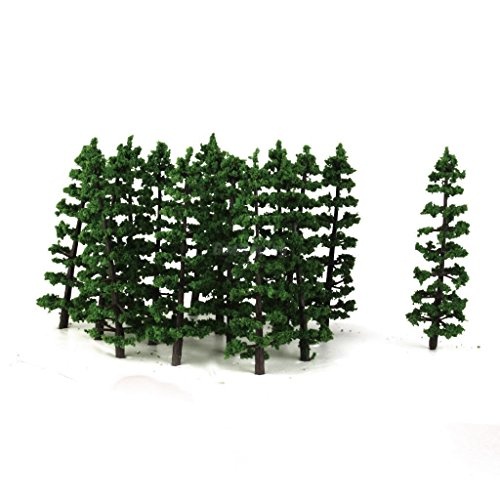 20x Fir Trees HO N Model Train Layout Diorama Mountain Forest Scenery - Tree Pinyon Christmas
