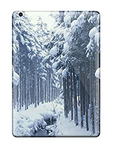 Charles C Lee VpKwAms2078Uzasx Case Cover Ipad Air Protective Case Snow Tree Fences by lolosakes