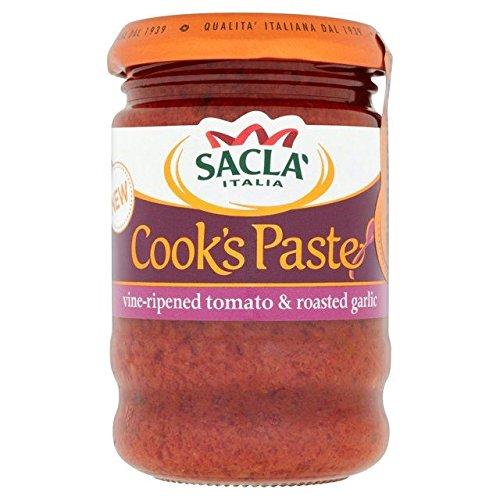 Roasted Garlic Paste - Sacla' Vine-ripened Tomato & Roasted Garlic Paste - 190g (0.42lbs)