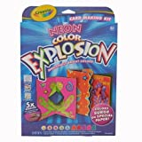 Crayola Neon Explosion Card Making kit