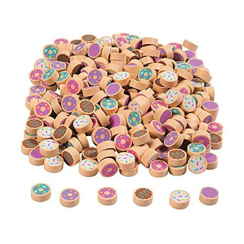 Fun Express Mini Doughnut Eraser Assortment - 300 Pieces