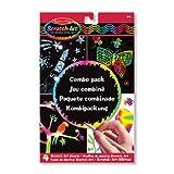 Melissa & Doug Scratch Art Magic Combo Pack With 4 Scratch Art Boards, Wooden Stylus, Stencil Sheet