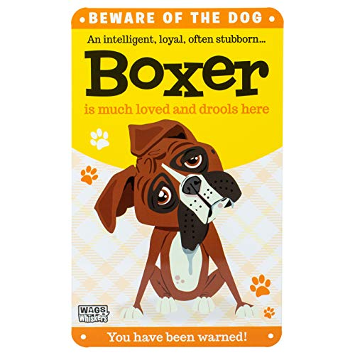 Wags and Whiskers Boxer Sign, Large, Multicolor for sale  Delivered anywhere in USA