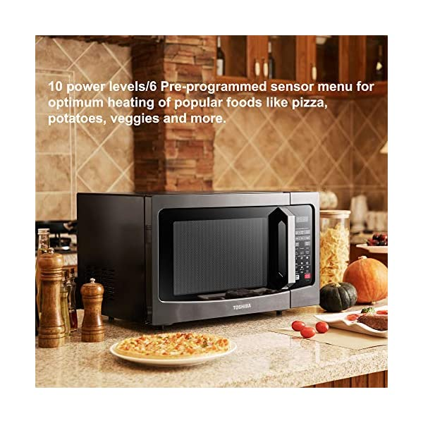 Home Garden Microwave Ovens 1100w Easy Clean Interior Em131a5c Bs Microwave Oven With Smart Sensor Anios Am