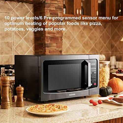 Reviews Summary Pros Cons Toshiba Em131a5c Bs Microwave Oven With Smart Sensor Easy Clean Interior Eco Mode And Sound On Off 1 2 Cu Ft 1100w Black Stainless Steel
