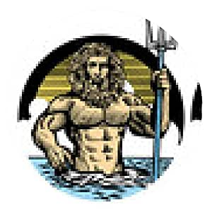alfombrilla de ratón dios Poseidón en estilo clásico lápiz - ronda - 20cm