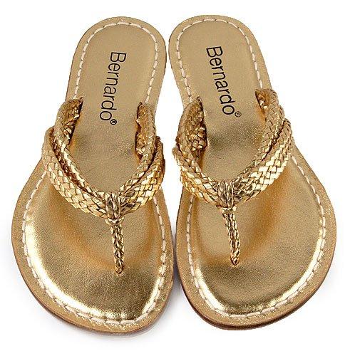 Bernardo Miami Woven Gold 12
